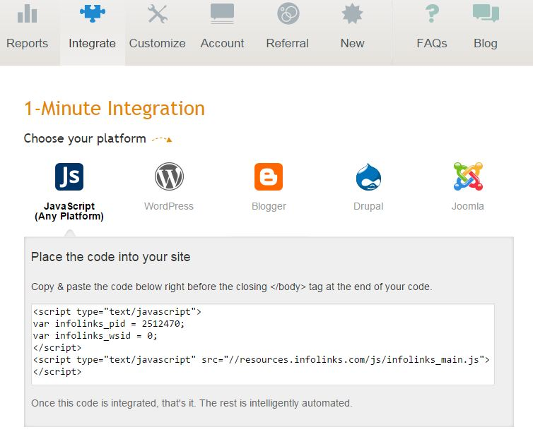 integrate screenshot