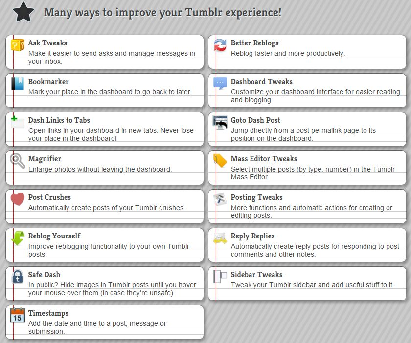 6 tumblr add-ons that will upgrade your game