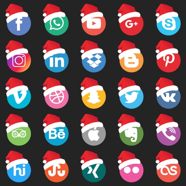 set-of-social-networking-icons-with-santa-claus-hat_1057-3219
