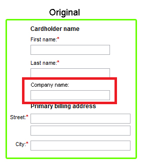 Expedia's form